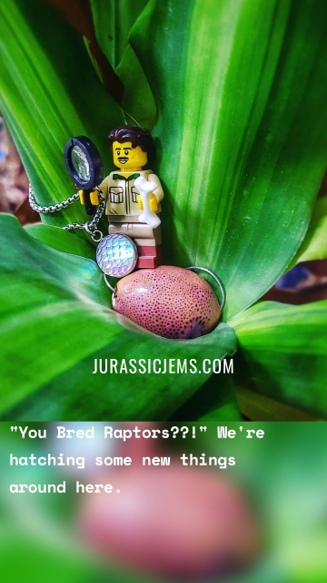 """""""You Bred Raptors??!"""" We're hatching some new things around here. Jurassicjems.com"""
